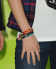 Selena's slate-gray nails struck the perfect balance between girlie and grunge.