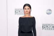 Selena Gomez Off-the-Shoulder Dress
