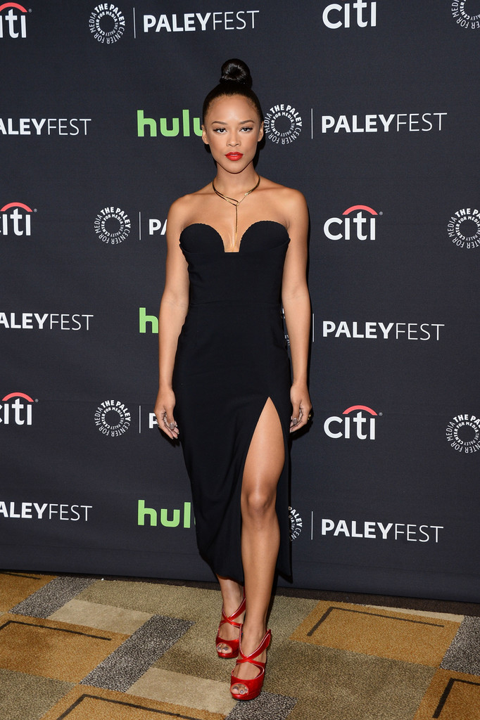 serayah mcneill strapless dress serayah mcneill looks
