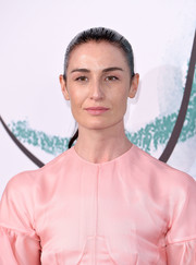 Erin O'Connor sported a slicked-back ponytail at the Serpentine Galleries Summer Party.