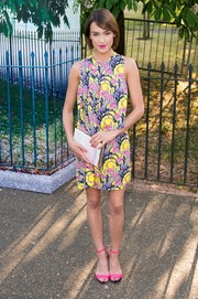 Ella Catliff was bright and breezy in her floral frock during the Serpentine Gallery Summer Party.