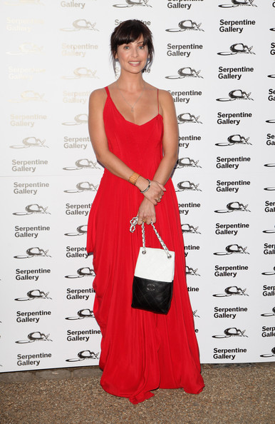 Natalie Imbruglia complemented her bright red dress with a black-and-white quilted Chanel bag at the Serpentine Summer Party.