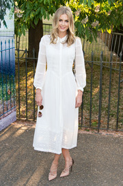 Donna Air kept it demure in a long-sleeve white shirtdress during the Serpentine Gallery Summer Party.