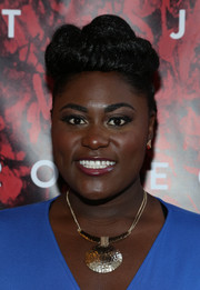 Danielle Brooks styled her hair in an elaborate braided bun for the Broadway opening of 'Shakespeare's Romeo and Juliet.'