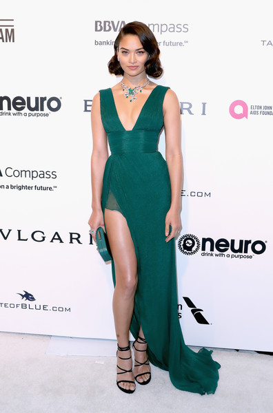 Shanina Shaik Empire Gown