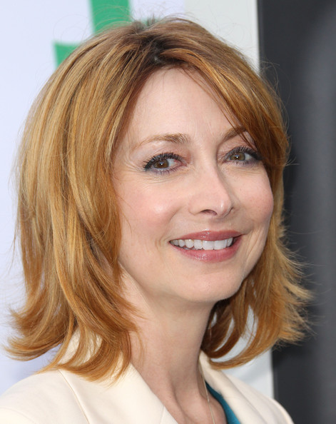 Sharon Lawrence Layered Razor Cut [hair,face,hairstyle,blond,eyebrow,chin,layered hair,hair coloring,brown hair,lip,arrivals,sharon lawrence,santa monica,california,bungalows,fairmont miramar hotel,global green usa,15th annual millennium awards]