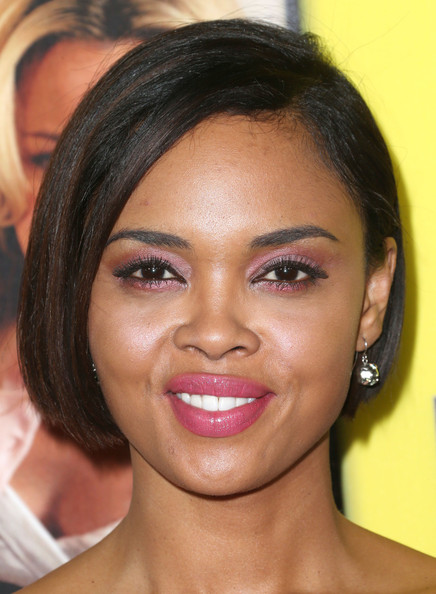 Sharon Leal Graduated Bob [movie 43,hair,face,eyebrow,hairstyle,forehead,lip,cheek,chin,skin,nose,arrivals,sharon leal,california,hollywood,tcl chinese theatre,relativity media,premiere of relativity media,premiere]