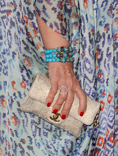Sharon Osbourne Beaded Clutch