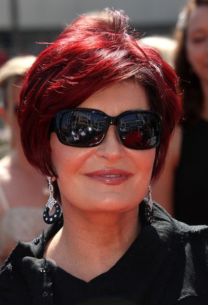 Sharon Osbourne Bob [eyewear,hair,sunglasses,face,red hair,glasses,red,hairstyle,cool,hair coloring,arrivals,sharon osbourne,california,los angeles,nokia theatre l.a. live,primetime creative arts emmy awards]