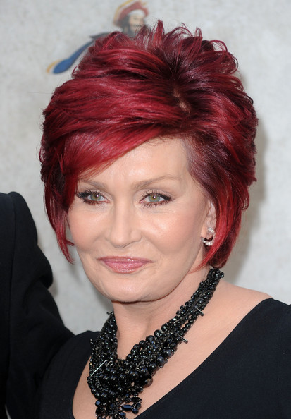 Sharon Osbourne Layered Razor Cut [guys choice,hair,face,hairstyle,red hair,hair coloring,red,eyebrow,chin,makeover,lip,arrivals,sharon osbourne,california,los angeles,spike tv,sony studios]
