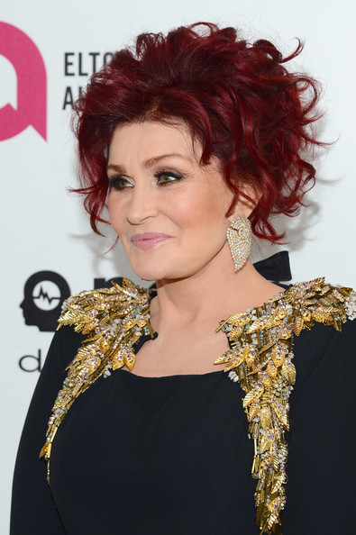 Sharon Osbourne Short Curls [hair,hairstyle,ringlet,chin,eyebrow,shoulder,lip,hair coloring,singer,red hair,sharon osbourne,elton john aids foundation oscar viewing party,part,california,los angeles,elton john aids foundation,oscar viewing party]