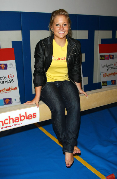 Shawn Johnson Leather Jacket [arm,shoulder,joint,leg,electric blue,trunk,thigh,shawn johnson,surprise kids after school,new york city,lunchables,92nd street y]