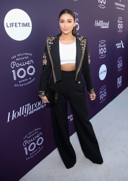 Shay Mitchell Wide Leg Pants