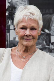 Judi Dench sported her signature pixie at the Shop with the Stars event.