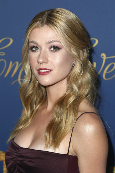 Katherine McNamara opted for a sweet half-up hairstyle when she attended the Showtime Emmy nominees celebration.