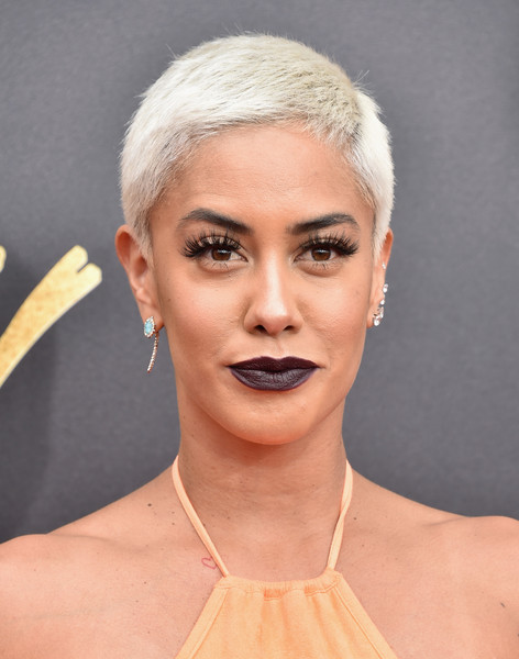 Sibley Scoles Boy Cut [movie,face,hair,eyebrow,lip,chin,hairstyle,blond,skin,beauty,head,arrivals,sibley scoles,tv awards,tv personality,california,los angeles,the shrine auditorium,mtv]