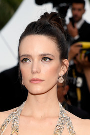 Stacy Martin wore her hair in a high bun at the 2019 Cannes Film Festival screening of 'Sibyl.'