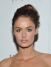 Nicole Trunfio attended the 'Silent House' premiere wearing her hair in a casually pinned-up 'do.