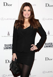 Kimberly Guilfoyle looked serious but mildly sexy in her black skirtsuit at the 'Silver Linings Playbook' premiere.
