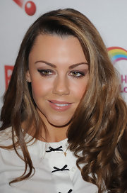 Michelle Heaton opted for light smoky eyes by using light brown eyeshadow for the Health Lottery Fundraising event.