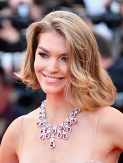 Arizona Muse looked cute and cool with her asymmetrical bob at the Cannes Film Festival screening of 'Sink or Swim.'