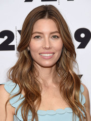 Jessica Biel was stylishly coiffed with this long wavy 'do at the New York screening of 'The Sinner.'
