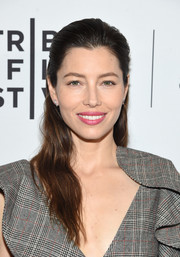 Jessica Biel looked lovely with her half-up wavy hairstyle at the Tribeca Film Fest premiere of 'The Sinner.'