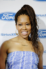 Regina King rocked a multi-braid hairstyle on day 1 of Essence Festival.