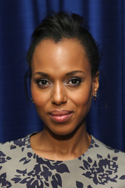 Kerry Washington styled her hair into a braid with a pompadour top for her visit to SiriusXM.