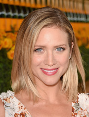 Brittany Snow attended the Veuve Clicquot Polo Classic wearing a perfectly neat lob.