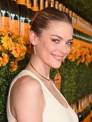 Jaime King topped off her look with a center-parted, twisted bun when she attended the Veuve Clicquot Polo Classic.
