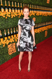 Darby Stanchfield went for ultra-feminine sophistication in a Shoshanna floral dress during the Veuve Clicquot Polo Classic.
