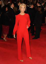 Boy do we love a good red jumpsuit!