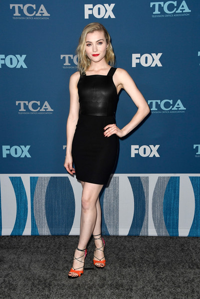 Skyler Samuels Lace-Up Heels [dress,clothing,little black dress,cocktail dress,shoulder,fashion,footwear,premiere,electric blue,carpet,winter tca,all-star party - arrivals,skyler samuels,pasadena,california,the langham huntington,fox,fox all-star party,winter tca tour]