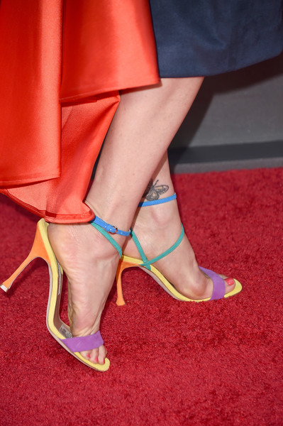More Pics of Carla Gugino Strappy Sandals (2 of 4) - Carla Gugino Lookbook - StyleBistro