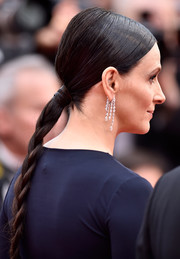 Juliette Binoche attended the Cannes premiere of 'Slack Bay' wearing her hair in a sleek braid.