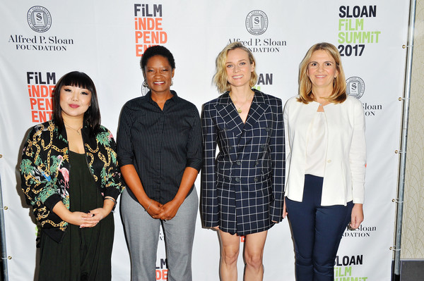 More Pics of Diane Kruger Pumps (1 of 19) - Diane Kruger Lookbook - StyleBistro [sloan film summit 2017,event,fashion,carpet,premiere,flooring,fashion design,jen yamato,diane kruger,danijela cabric,tracy drain,l-r,los angeles,california,regal cinemas l.a. live]