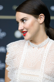 Shailene Woodley sported a neat ponytail at the Zurich Film Festival premiere of 'Snowden.'