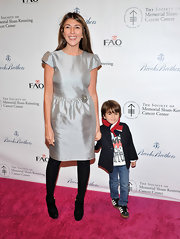 Nina Garcia looked enchanting at the Bunny Hop in a silver cocktail dress.