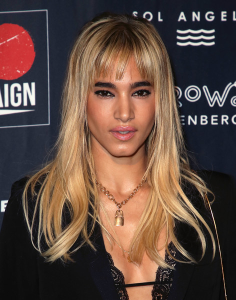 Sofia Boutella Long Straight Cut with Bangs