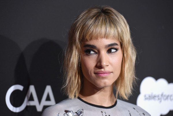 Sofia Boutella Short Cut With Bangs