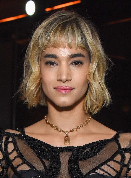 Sofia Boutella Short Wavy Cut [hair,face,blond,hairstyle,eyebrow,beauty,chin,lip,fashion,bangs,joel edgerton,friends host,sofia boutella,casa noble tequila,los angeles,the highlight room,california,fred hollows foundation,friends,inaugural fundraising gala]