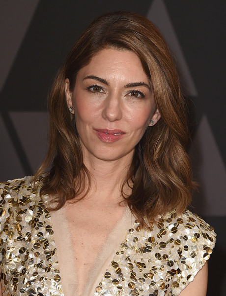 Sofia Coppola Medium Wavy Cut [hair,hairstyle,eyebrow,beauty,brown hair,fashion,chin,long hair,lip,blond,sofia coppola,hollywood highland center,california,the ray dolby ballroom,academy of motion picture arts and sciences,9th annual governors awards]