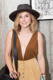 Sophia Bush was Western-chic in a black walker hat during a Soho House Chicago party.