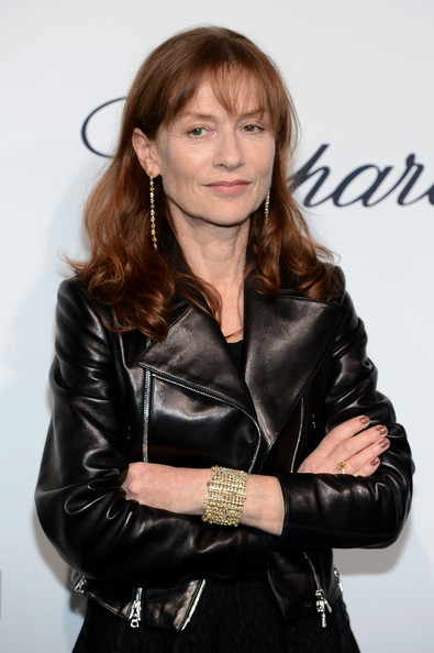 More Pics of Isabelle Huppert Leather Jacket (1 of 4) - Outerwear Lookbook - StyleBistro [hairstyle,beauty,leather,cheek,jacket,textile,leather jacket,outerwear,long hair,photography,isabelle huppert,cannes,france,soiree chopard,mystery party,cannes film festival]