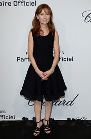 Isabelle Huppert's LBD at the Soiree Chopard 'Mystery Party' featured a voluminous skirt, giving her an ultra-girly aura.