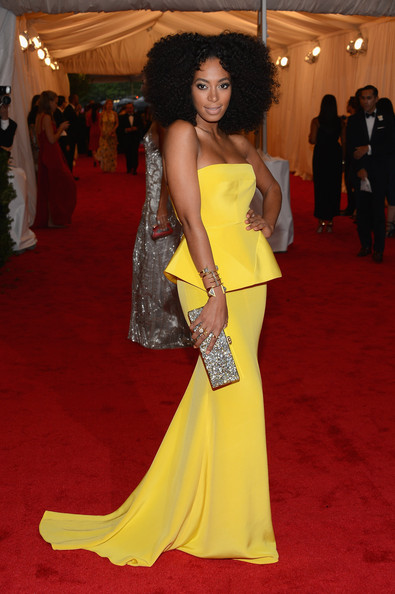 Solange Knowles Strapless Dress