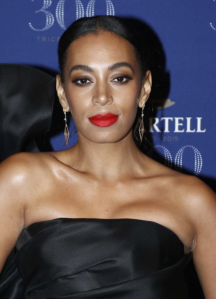Solange Knowles Red Lipstick - Solange Knowles Makeup ...