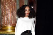 Solange Knowles Wide Leg Pants
