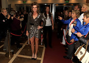 Paula Creamer looked fab in her glittery silver wrap dress at the Solheim Cup gala dinner.